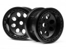HPI3212 Rock 8 Beadlock Wheel Black 55x36mm (2)