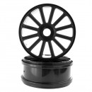 Диски 1/8 Buggy Rims Black, 2шт (Himoto, 821001B)