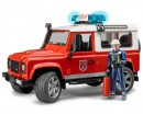 Автомодель Bruder Land Rover Defender 1:16 (пожарная)
