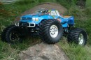 Автомобиль Thunder Tiger MTA-4 S28 Nitro PRO Monster 1/8 558 мм 4WD 2.4GHz RTR Blue