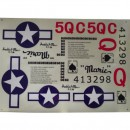 Stickers Sonic Modell P51 Mustang Red Tail
