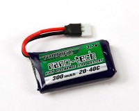 Аккумулятор Turnigy 3.7V 300mAh 1S 20~40C Lipo, Nano-Tech (Losi Mini Compatible)