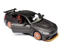 Коллекционный автомобиль Maisto BMW M4 GTS 1:24 серый металлик