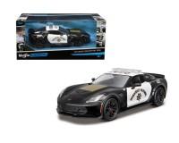 Коллекционный автомобиль Maisto Chevrolet Corvette Z06 тюнинг полиция 1:24 (чёрный)