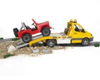 Эвакуатор Bruder Mercedes Sprinter 1:16 (жёлтый)