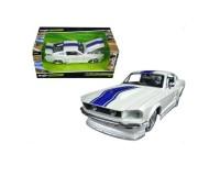 Коллекционный автомобиль Maisto Ford Mustang GT тюнинг 1:24 (белый металлик)