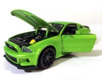 Коллекционный автомобиль Maisto Ford Mustang Street Racer 1:24(зелёный) металлик