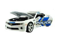 Коллекционный автомобиль Chevrolet Camaro SS RS Police 1:24 (белый)
