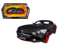 Коллекционный автомобиль Maisto Mercedes - AMG GT тюнинг 1:24 (серый металлик)