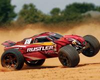 Автомобиль Traxxas Rustler VLX Brushless Stadium Truck 1:10 RTR 445 мм 2WD 2,4 ГГц (37076-3 Red)