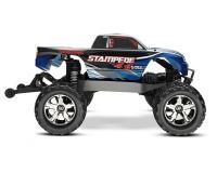 Монстр Traxxas Stampede Brushless 1:10 ARTR 500 мм 4WD TSM 2,4 ГГц (67086-4 Blue)
