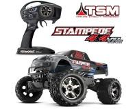 Монстр Traxxas Stampede Brushless 1:10 ARTR 500 мм 4WD TSM 2,4 ГГц (67086-4 Silver)