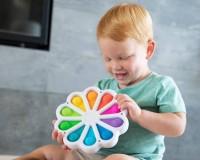 Cенсорная игрушка Fat Brain Toys Dimpl Digits Цветок с силиконовыми пузырями