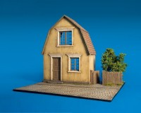 Сборная модель MiniArt Диорама Деревенский дом с основанием 1:35 (MA36031)