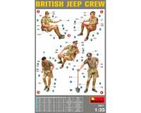 Сборные фигурки MiniArt Британский экипаж джипа 1:35 (MA35051)