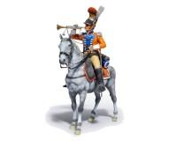 Сборная модель MiniArt фигурки трубача 2-го Вестфальского кирасирского полка, 1809 г. 1:16 (MA16035)