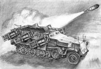 Сборная модель Звезда немецкий БТР с пусковыми установками Sd.Kfz.2511 Ausf.B «Ханомаг» 1:35