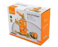 Деревянный игровой набор Viga Toys Подъемный кран и самосвал (51616)