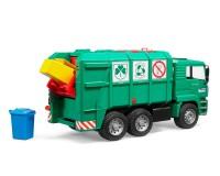 Автомодель Bruder MАN TGA мусоровоз 1:16 (зелёный)