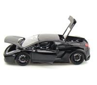 Коллекционный автомобиль Maisto Lamborghini Gallardo Superleggera 1:18, черный металлик