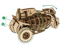 Конструктор деревянный Mr.Playwood Механическая машина Старбайк (PW10015)