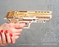 Конструктор Ukrainian Gears «Пистолет Wolf-01», деревянный