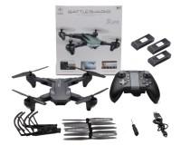Квадрокоптер Visuo XS816 складной с 4K и HD FPV камерами, 3-мя аккумуляторами Черный