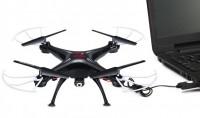 Квадрокоптер Syma X5SW с камерой Wi-Fi RTF (чёрный)