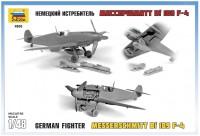 Сборная модель Звезда немецкий истребитель «Мессершмитт Bf-109 F4» 1:48