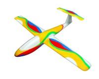 Метательный планер J-Color Falcon 600мм c комплектом красок