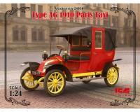 Сборная модель ICM Парижское такси модель AG, 1910-е гг. 1:24 (ICM24030)