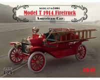 Сборная модель ICM Американский пожарный автомобиль модель Т 1914 Firetruck 1:24 (ICM24004)