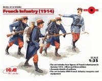 Сборные фигурки ICM Французская пехота, 1914 г. 1:35 (ICM35682)