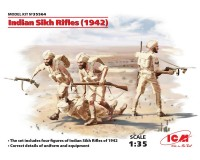 Сборные фигурки ICM Индийские сикхи-стрелки, 1942 г. 1:35 (ICM35564)