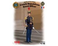 Сборная модель ICM фигурки офицера Республиканской гвардии Франции 1:16 (ICM16004)