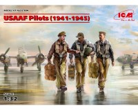 Сборные фигурки ICM Пилоты ВВС армии США, 1941-1945 гг. 1:32 (ICM32104)