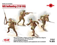 Сборные фигурки ICM Пехота США, 1918 г. 1:35 (ICM35693)