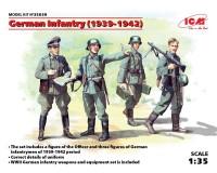 Сборные фигурки ICM Немецкая пехота, 1939-1942 гг. 1:35 (ICM35639)