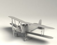 Сборная модель ICM Немецкий учебный самолет Bucker Bu 131A, IIМВ 1:32 (ICM32033)