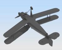 Сборная модель ICM Немецкий учебный самолет Bucker Bu 131B, IIМВ 1:32 (ICM32031)
