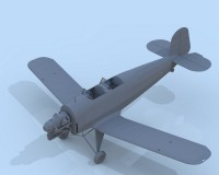 Сборная модель ICM Немецкий учебный самолет Bucker Bu 131D, IIМВ 1:32 (ICM32030)