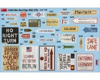 Сборная модель MiniArt Дорожные знаки союзников, Вторая мировая война, Европейский театр военных действий 1:35 (MA35608)
