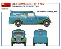 Сборная модель MiniArt немецкого грузовика для доставки пива  Lieferwagen Typ 170V 1:35 (MA38035)