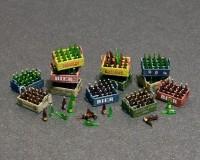 Сборная модель MiniArt Пивные бутылки и деревянные ящики 1:35 (MA35574)