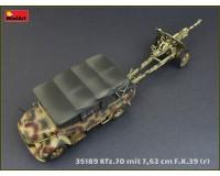 Сборная модель MiniArt Армейский автомобиль Kfz.70 с пушкой 7,62 см F.K. 39(r) 1:35 (MA35189)