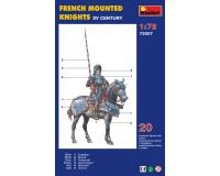 Сборная модель MiniArt фигурок французских конных рыцарей, XV век 1:72 (MA72007)