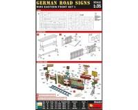 Сборная модель MiniArt Немецкие дорожные знаки, Вторая мировая война, набор Восточный фронт-1 1:35 (MA35602)