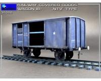 Сборная модель MiniArt Железнодорожный крытый вагон тип НТВ, 18 тонн 1:35 (MA35288)