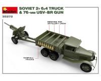 Сборная модель MiniArt Советский двухтонный грузовик с 76-мм УСВ-БР пушкой 1:35 (MA35272)