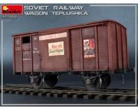Сборная модель MiniArt Советский железнодорожный вагон-теплушка 1:35 (MA35300)